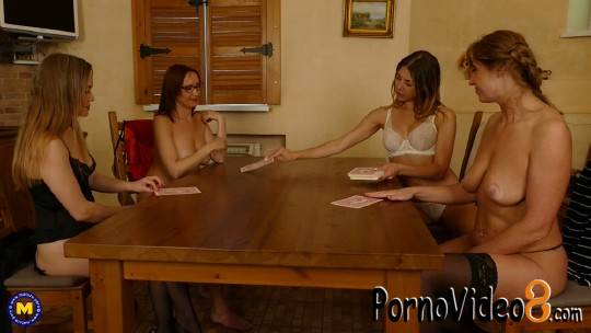 Mature.nl: Arty (30), Lucy (44), Nelly (43), Paulina Soul (31) - Four housewives turning a night of strippoker into a steamy lesbian groupsex party (FullHD/1080p/2.92 GB)