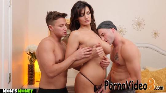 MomsMoney: Becky Bandini - MILF Becky Bandini gets tag teamed by college boys (FullHD/1080p/3.48 GB)