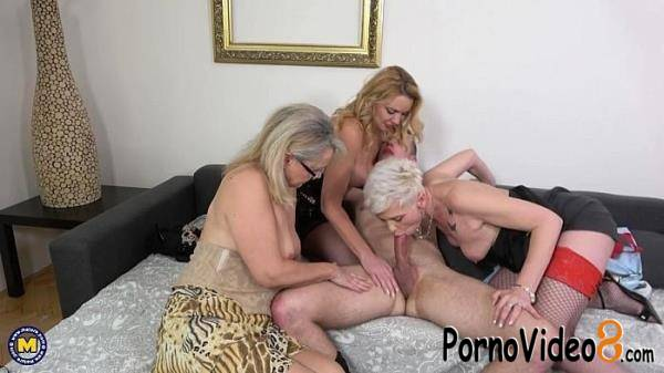 Mature.nl: Kathy White (45), Lea (55), Mya Evans (53) - Three mature nymphos seduced a toyboy for a steamy party and to get their shared facials (SD/540p/534 MB)