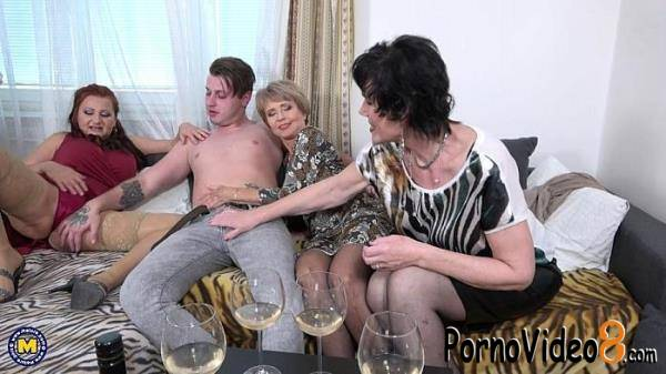 Mature.nl: Esmeralda M. (52), Romana (69), Ryanne (63) - One lucky toyboy met three naughty mature ladies who are in for a steamy groupfuck at home. The boy is instantly willing and ready to rock their worlds! (FullHD/1080p/2.11 GB)